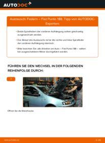 Wie der Wechsel durchführt wird: Federn 1.2 60 Fiat Punto 188 tauschen