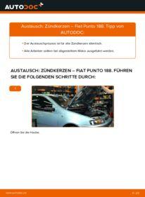 Wie der Wechsel durchführt wird: Zündkerzen 1.2 60 Fiat Punto 188 tauschen