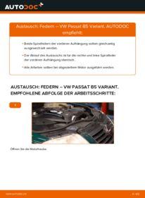 Wie der Wechsel durchführt wird: Federn 1.9 TDI Passat B5 tauschen