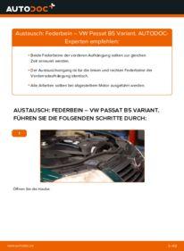 Wie der Wechsel durchführt wird: Stoßdämpfer 1.9 TDI Passat B5 tauschen