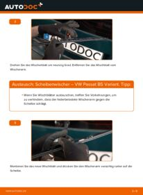 Wie der Wechsel durchführt wird: Scheibenwischer 1.9 TDI Passat B5 tauschen