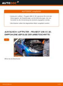 Wie der Wechsel durchführt wird: Luftfilter 1.6 16V Peugeot 206 CC tauschen