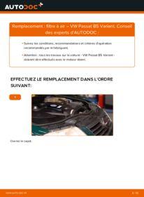 Comment effectuer un remplacement de Filtre à Air sur 1.9 TDI Passat 3B6