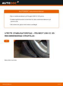 Så byter du Stabilisatorstag på 1.6 16V Peugeot 206 cc 2d