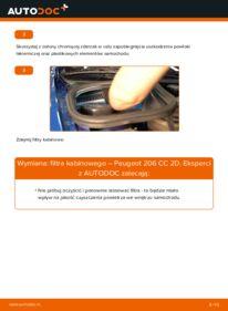 Jak przeprowadzić wymianę: Filtr powietrza kabinowy w PEUGEOT 206