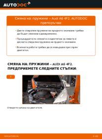 Как се извършва смяна на: Пружинно окачване на 3.0 TDI quattro Audi A6 4f2