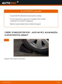 Hogyan végezze a cserét: AUDI A6 Összekötőrúd