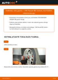 Kaip atlikti keitimą: 1.9 TDI Passat 3B6 Rato guolis