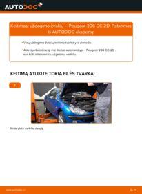 Kaip atlikti keitimą: 1.6 16V Peugeot 206 cc 2d Uždegimo žvakė