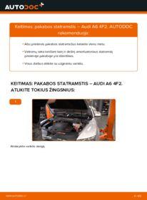 Kaip atlikti keitimą: 3.0 TDI quattro Audi A6 4f2 Amortizatorius