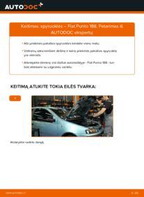 Kaip atlikti keitimą: 1.2 60 Fiat Punto 188 Spyruoklės