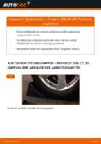 Stoßdämpfer wechseln PEUGEOT 206: Werkstatthandbuch