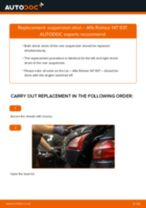 PDF replacement tutorial: Shocks ALFA ROMEO 147 (937) rear and front