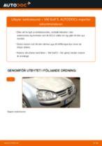 Steg-för-steg-guide i PDF om att byta Lambdasond i VW GOLF V (1K1)