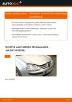 Kuinka vaihtaa lambda anturi VW Golf 5-autoon – vaihto-ohje