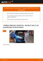 Jak vyměnit přední pérovací jednotka na Peugeot 206 CC 2D – návod k výměně