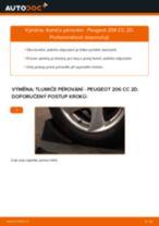 Jak vyměnit zadní tlumiče pérování na Peugeot 206 CC 2D – návod k výměně