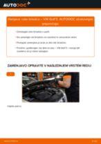 Kako zamenjati avtodel roke brisalca na avtu VW Golf 5 – vodnik menjave