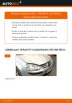 Kako zamenjati avtodel lamda sonda na avtu VW Golf 5 – vodnik menjave