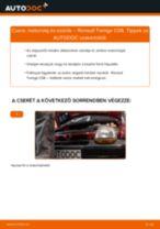 Motorolaj és szűrők-csere Renault Twingo C06 gépkocsin – Útmutató