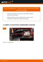 Autószerelői ajánlások - Twingo c06 1.2 16V Üzemanyagszűrő cseréje
