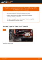 Kada reikia keisti Stabdziu Apkabos Laikiklis RENAULT TWINGO I (C06_): pdf vadovas