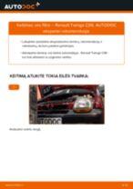 Automechanikų rekomendacijos RENAULT Renault Kangoo kc01 1.4 Oro filtras keitimui