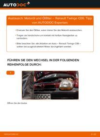 Wie der Wechsel durchführt wird: Ölfilter 1.2 Renault Twingo Mk1 tauschen