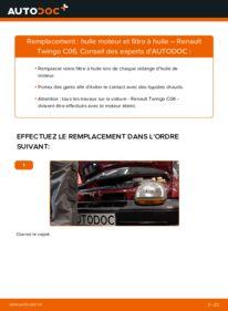 Comment effectuer un remplacement de Filtre à Huile sur 1.2 Renault Twingo 1