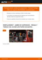 Comment changer : jambe de suspension arrière sur Renault Twingo C06 - Guide de remplacement