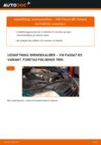 Udskift bremsekaliber for - VW Passat B5 Variant   Brugeranvisning