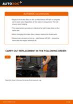 PDF replacement tutorial: Brake rotors ALFA ROMEO 147 (937) rear and front