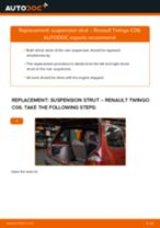 How to replace and adjust Shock absorbers RENAULT TWINGO: pdf tutorial