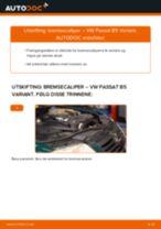 Slik bytter du bremsecaliper fremme på en VW Passat B5 Variant – veiledning