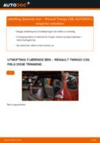 Skifte Støtdemper RENAULT TWINGO: verkstedhåndbok