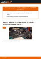 Kuinka vaihtaa jarrusatula eteen VW Passat B5 Variant-autoon – vaihto-ohje