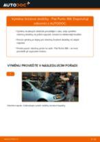 VW LUPO výměna Sada Brzdových Čelistí Parkovací Brzda zadní a přední: návody pdf