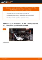 Kako zamenjati avtodel motorna olja in filter na avtu VW Touran 1T1 1T2 – vodnik menjave