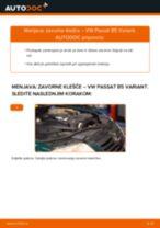 Kako zamenjati avtodel zavorne klešče spredaj na avtu VW Passat B5 Variant – vodnik menjave
