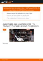 Como mudar óleo do motor e filtro em VW Touran 1T1 1T2 - guia de substituição