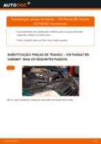 Mudar Pinças de Travão VW PASSAT: manual técnico