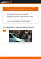 Como mudar pastilhas de travão da parte dianteira em Fiat Punto 188 - guia de substituição