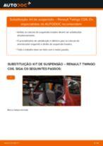 Como mudar kit de suspensão da parte traseira em Renault Twingo C06 - guia de substituição
