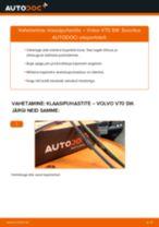 Kuidas vahetada Volvo V70 SW esi-klaasipuhastite – õpetus