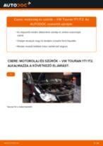 Motorolaj és szűrők-csere VW Touran 1T1 1T2 gépkocsin – Útmutató