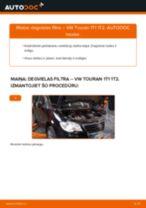 Kā nomainīt: degvielas filtru VW Touran 1T1 1T2 - nomaiņas ceļvedis