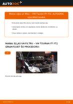 VW Eļļas filtrs nomaiņa dari-to-pats - tiešsaistes instrukcijas pdf
