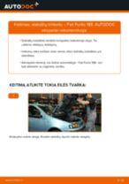 FIAT gale ir priekyje Stabdžių Kaladėlės keitimas pasidaryk pats - internetinės instrukcijos pdf