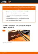 Kaip pakeisti Volvo V70 SW valytuvų: priekis - keitimo instrukcija