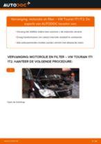 Oliefilter veranderen VW TOURAN (1T1, 1T2): instructie pdf